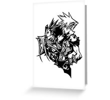 Sephiroth, Zack and Cloud Greeting Card