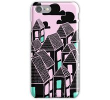 Pink city print iPhone Case/Skin