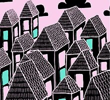 Pink city print by KatHassell