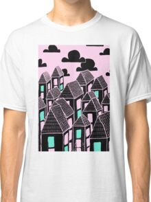 Pink city print Classic T-Shirt