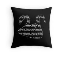 Captain Swan quotes - swan and hook Throw Pillow