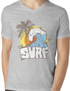 Retro Surf T-Shirt Design Mens V-Neck T-Shirt