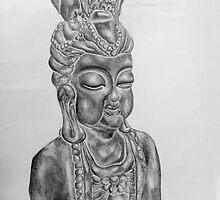 Buddhist Sculpture - Still Life Illustration by EmilyZganiacz