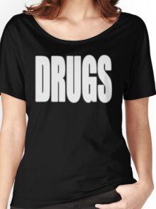 White DRUGS Women's Relaxed Fit T-Shirt