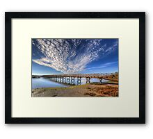 Quinta do Lago The Wooden Bridge Framed Print