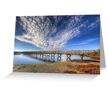 Quinta do Lago The Wooden Bridge Greeting Card