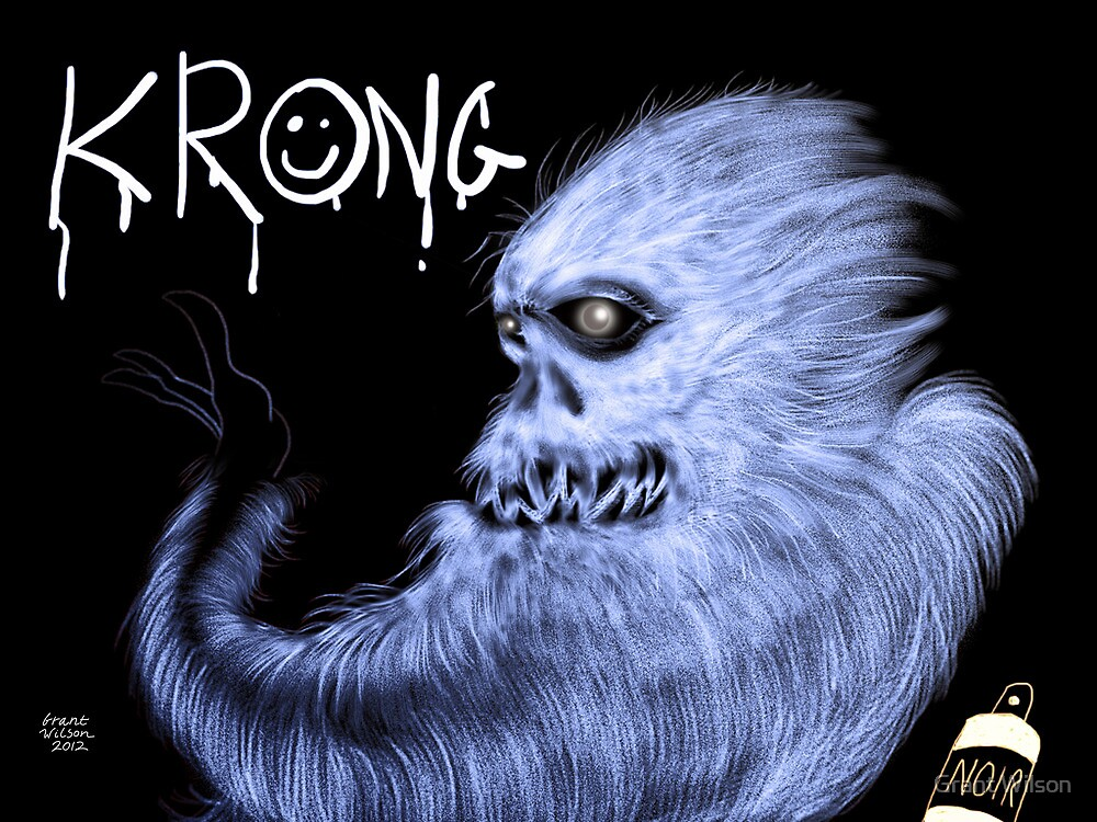 Krong, the Spray-Painting Yeti drawing 2 by Grant Wilson