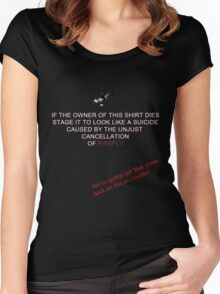 Firefly&Community: we'll bring the show back! - black version Women's Fitted Scoop T-Shirt