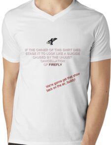 Firefly&Community: we'll bring the show back! - black version Mens V-Neck T-Shirt