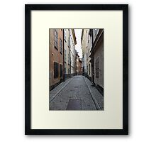 cityscape street in old town Framed Print