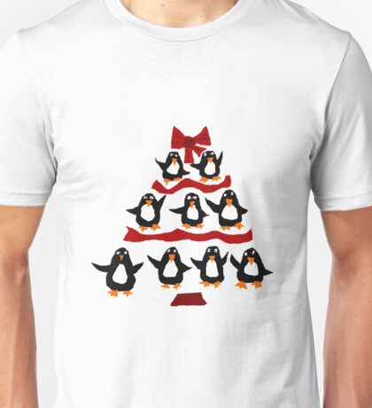 Cool Funny Penguin Christmas Tree Unisex T-Shirt