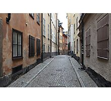 street in old town Photographic Print