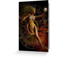 sacred feminine Greeting Card