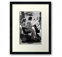 Hitchin' Framed Print