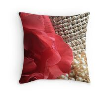 Petals and Pearls Throw Pillow