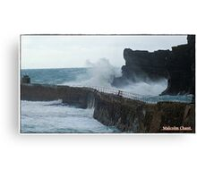 """ A cold morning at Portreath"" Canvas Print"