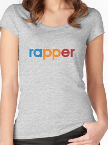 Colorful Rapper Women's Fitted Scoop T-Shirt