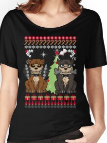 Pit bull Christmas Sweater Women's Relaxed Fit T-Shirt