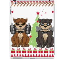 Pit bull Christmas Sweater iPad Case/Skin