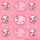 Angry Marshmallow and Skull Poster by AngryMarshmallo