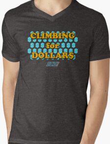 Climbing for Dollars - The Running Man Mens V-Neck T-Shirt