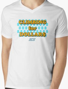 Climbing for Dollars - The Running Man Mens V-Neck T-Shirt
