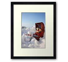 Winter Pleasures With Best Friends Framed Print