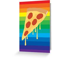 Because Pizza Greeting Card