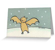 Ice Skating Bat Greeting Card