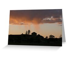 Twilight Tears: Geraldton, Western Australia Greeting Card