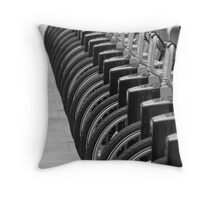 London Bicycles Throw Pillow