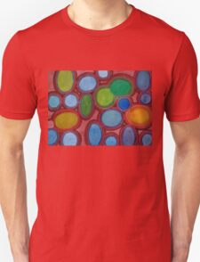 Moving coloured Round Shapes Unisex T-Shirt
