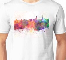 Johannesburg skyline in watercolor background Unisex T-Shirt