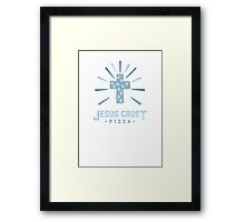 Jesus Crust Pizza Framed Print