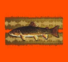 tattoo brown trout Kids Clothes