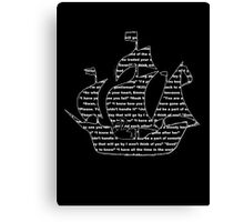 Captain Swan quotes - ship Canvas Print