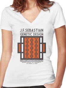 JF SEBASTIAN GENETIC DESIGN - Blade Runner Women's Fitted V-Neck T-Shirt