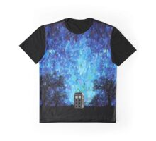 Lonely time travel phone box art painting Graphic T-Shirt