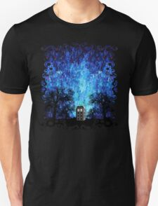 Lonely time travel phone box art painting T-Shirt