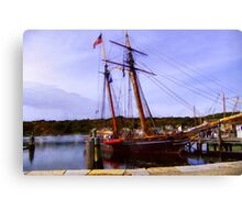 The Amistad on the Mystic River Canvas Print