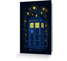 Space Time Impressionism Greeting Card