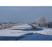 Frozen Canal Photographic Print