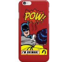 Caped Crusader slapping Robin iPhone Case/Skin