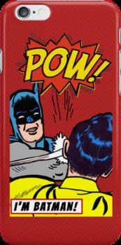 Caped Crusader slapping Robin by its-mr-towel