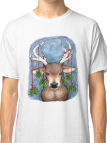Deer with Holly Classic T-Shirt