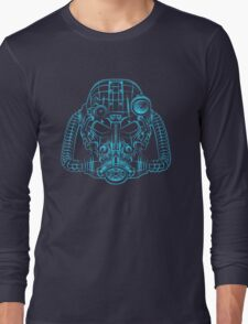 Power Wireframe Blue Long Sleeve T-Shirt