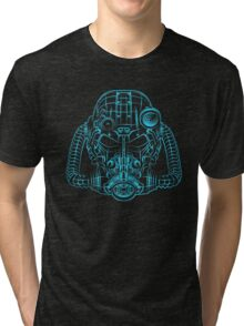 Power Wireframe Blue Tri-blend T-Shirt