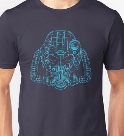 Power Wireframe Blue Unisex T-Shirt