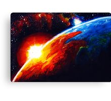 Space Space Earth Canvas Print