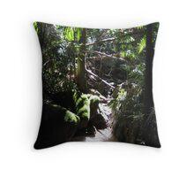 Jungle corner Throw Pillow